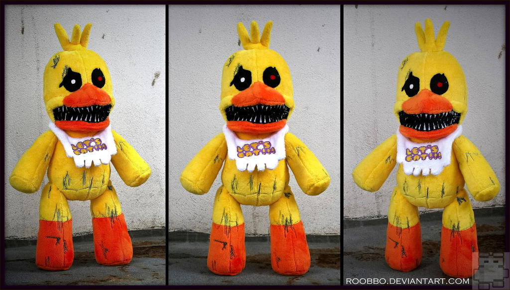 Five Nights at Freddys - Nightmare Chica Plush by roobbo