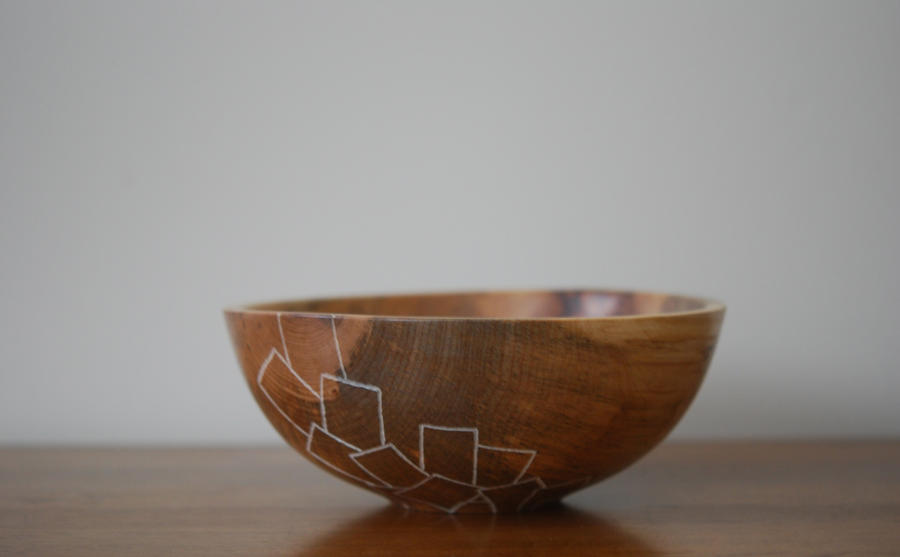 Textured Bowl by TheHeartwoodStudio
