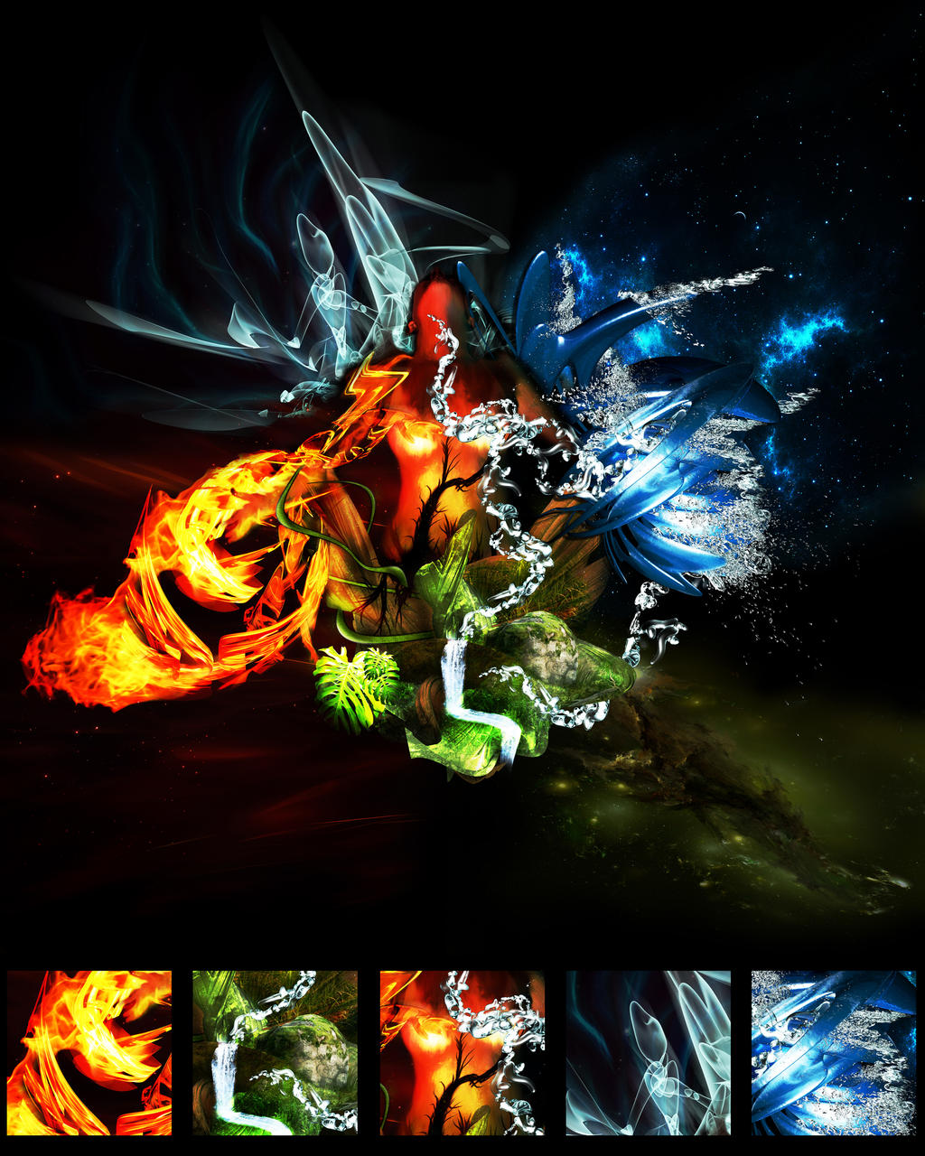 Five Elements Art : Five elements by motov on deviantart