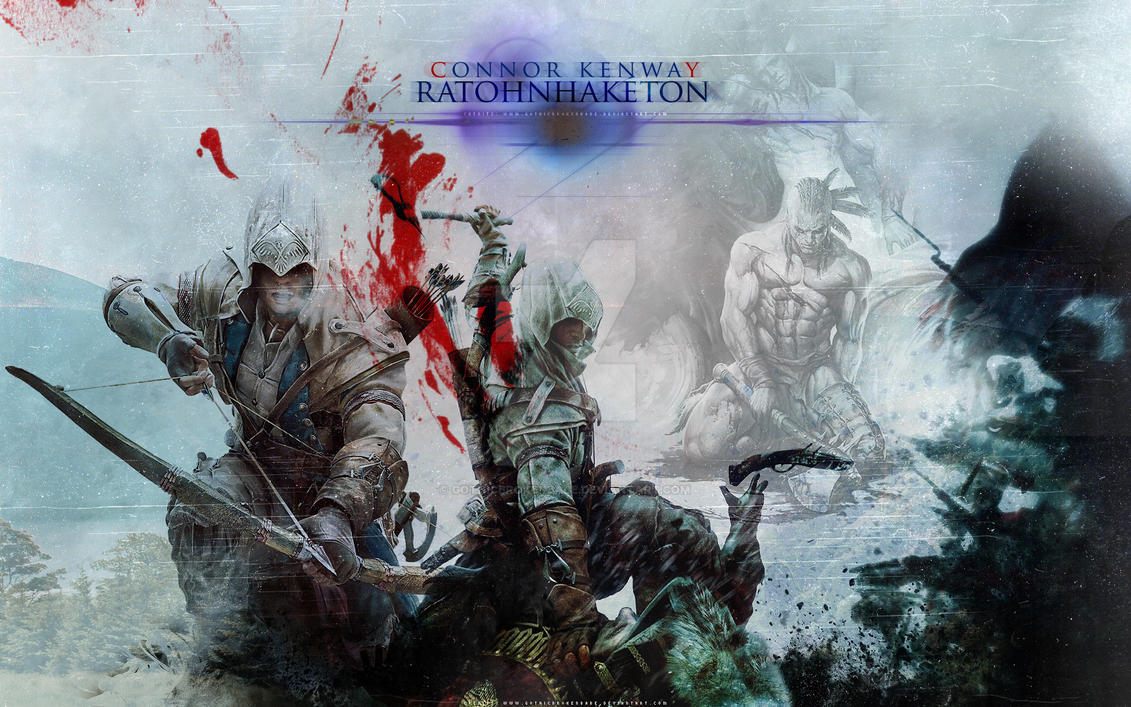 Wallpaper - Connor Kenway AC3 by GothicBrokenBabe