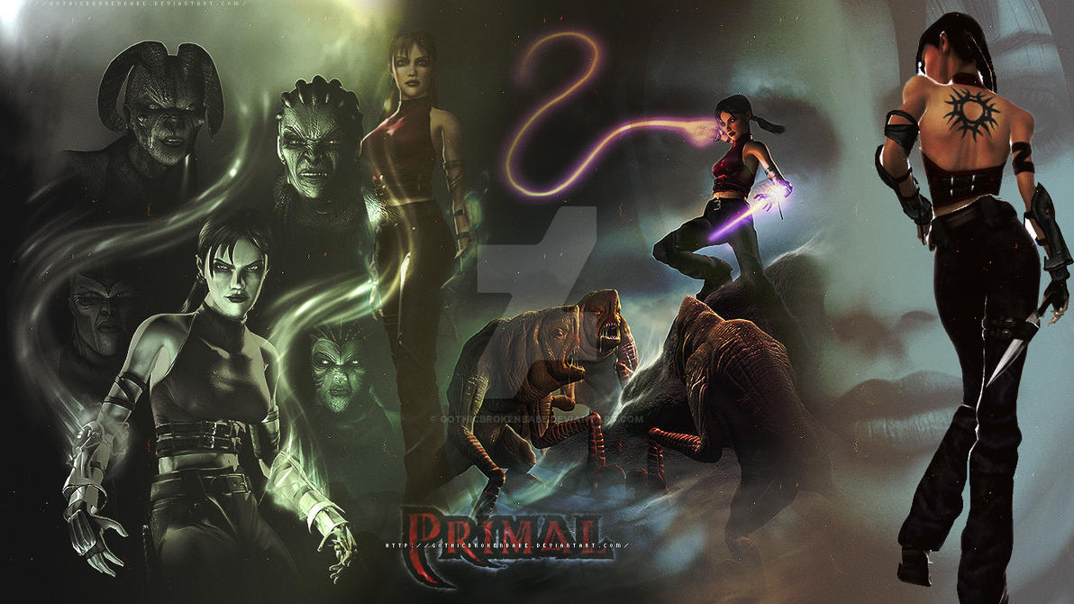 Wallpaper: Jen - Primal III by GothicBrokenBabe on DeviantArt