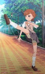 Misaka Mikoto Tsundere Kick