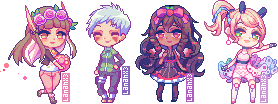 Pixel Pagedoll Commissions by Lanahx3