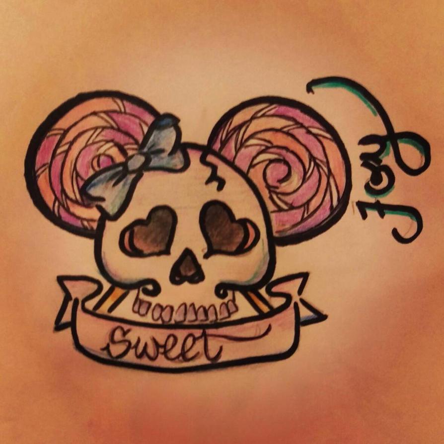 sweet skull  by L-Lilliett