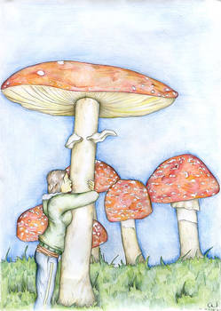 in love with mushroom
