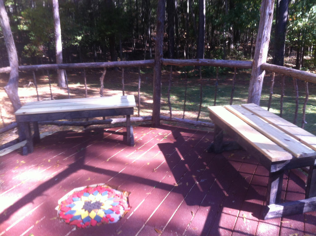 Gazebo Benches nearly done by ragesevenqb
