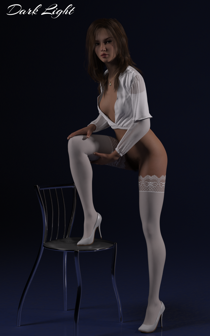 Blaire and Chair by DarkLightArtistCG