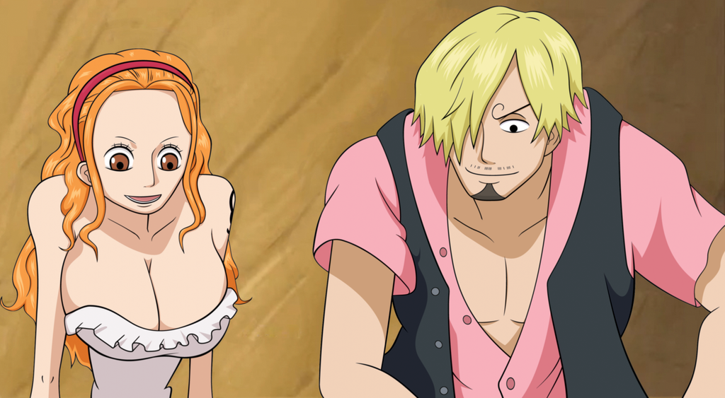 Nami and Sanji by TripleXMooie on DeviantArt | 1024 x 563 png 586kB