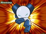 Robotboy kicks tail