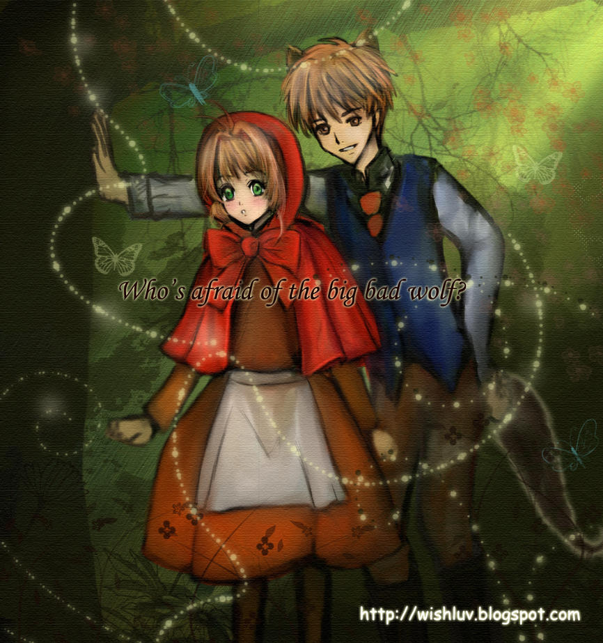 Little red riding hood wolf anime wolf and red riding hood by wishluv by newtrials on ttle red sciox Choice Image