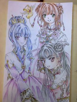 Sakura, Tomoyo and Meilin by Shiyaechan