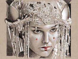 Padme Amidala sketch by sarahwilkinson