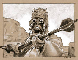 Tusken Raider :-O by sarahwilkinson