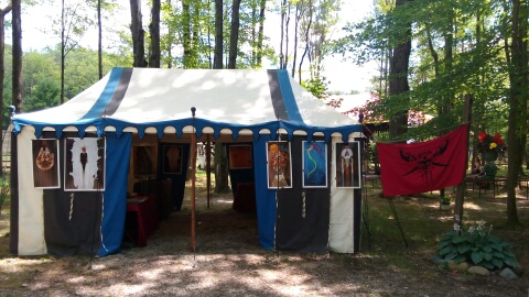 My Booth at the Great Lakes Medieval Faire by sarahwilkinson
