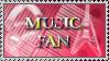 Music Fan Stamp by MEGAB00ST