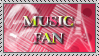 Music Fan Stamp by MEGAB00ST