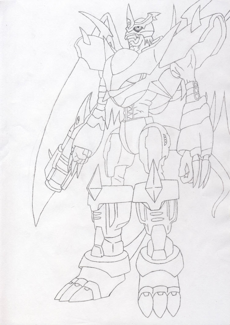 Imperialdramon Fighter Mode (sketch) by Siques on DeviantArt