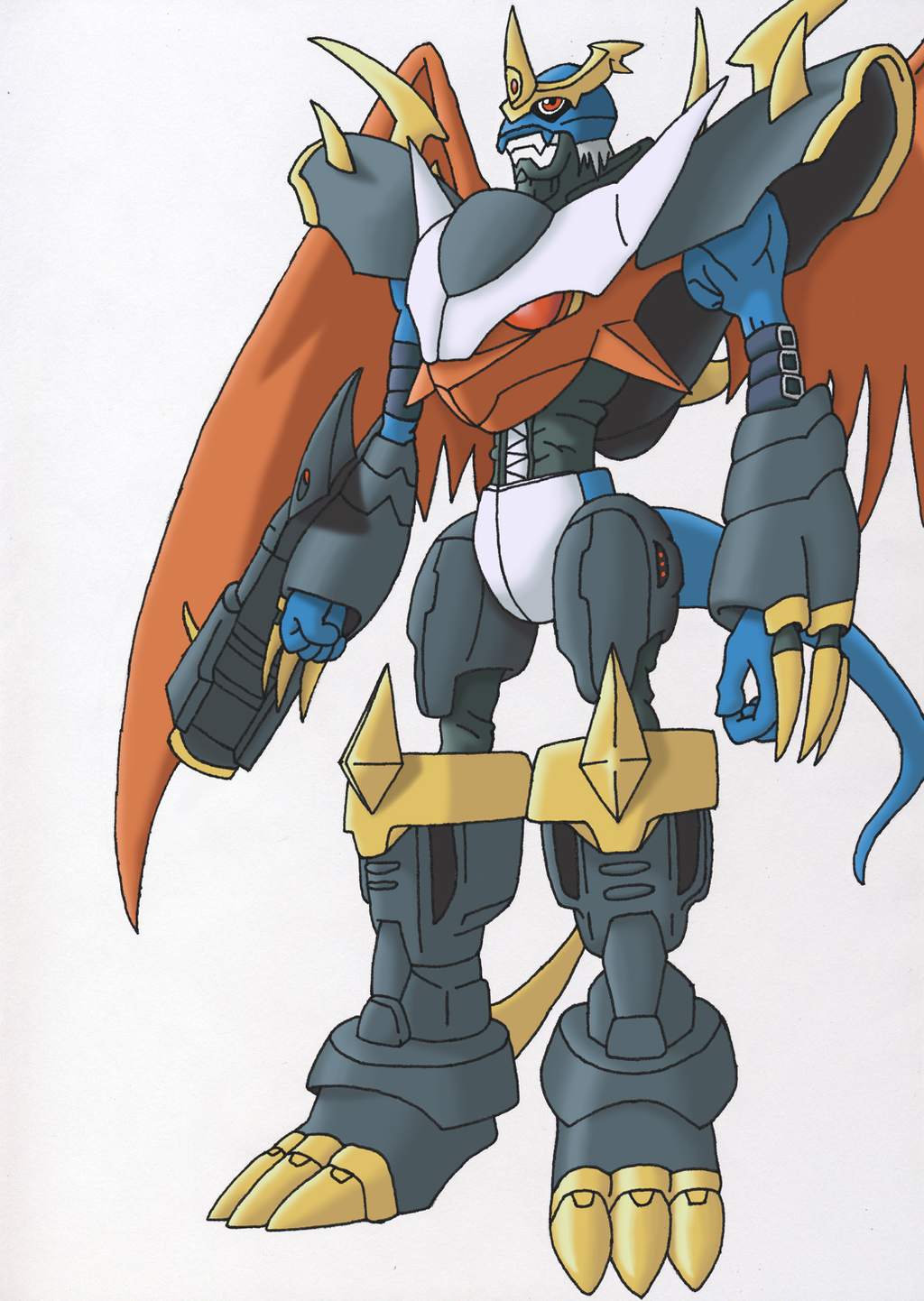 Imperialdramon - Fighter Mode by Siques on DeviantArt