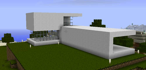 Minecraft House 3_backside by aviansie