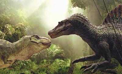 T.Rex Vs Spinosarus  by GrandNightConvoymare