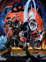 Scorpion and SubZero Redux by Liojen