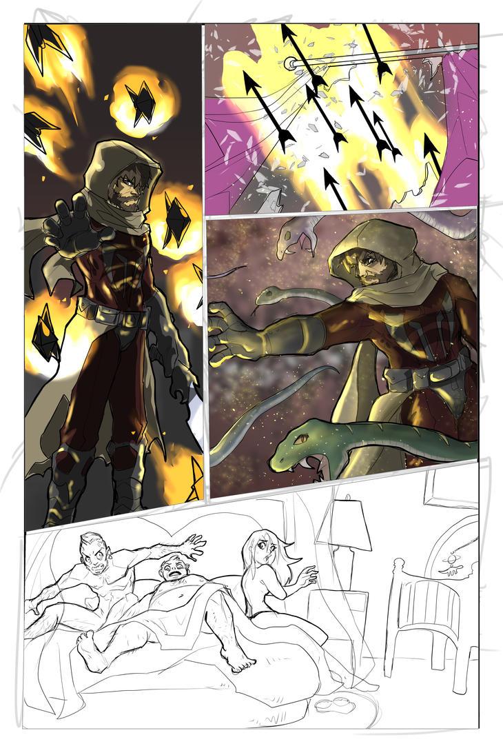 Batman Page 4wip by Sktchman
