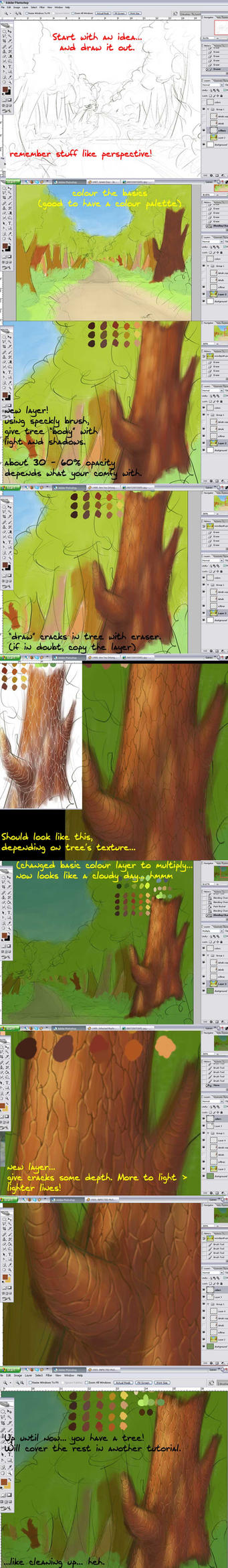 Woods path BG Tutorial -tree by FlyingGekko774