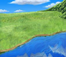 BG_Field and water by FlyingGekko774