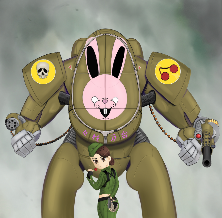 Amber and her Bunny Mecha by Goodguy67