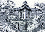 Lost Pagoda (Inked Art)