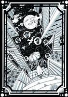 Night Dreamer (Inked Art) by Janusart