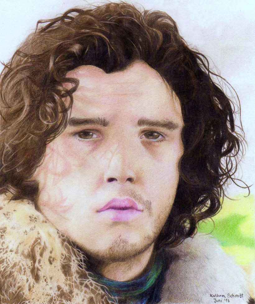 Jon Snow - Kit Harington - Drawing by Atompilz94