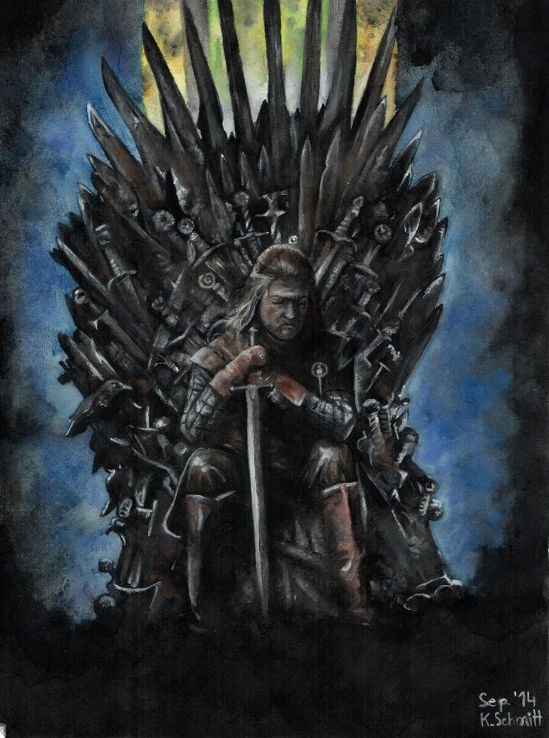 Lord Eddard Stark- Sean Bean- Aquarell by Atompilz94