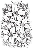 Eye Flowers - lineart by LeoDragonsWorks