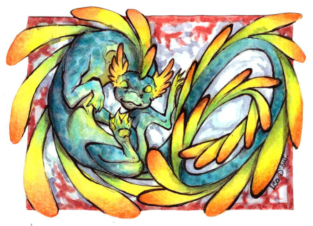 ACEO Trade - Water Dragon