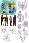 Doodle - old sketches 2 by LeoDragonsWorks