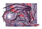 ACEO - Adopt a moon Dragon