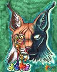 Rainbow Lynx by LeoDragonsWorks