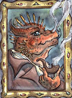 ACEO for Cultist Carl by LeoDragonsWorks
