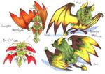 Berrybat and its evos by LeoDragonsWorks