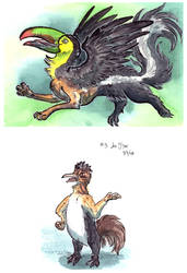 Two more chimeras by LeoDragonsWorks