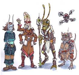 Starfinder Party by LeoDragonsWorks
