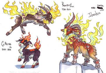 Flaming Goats - Essence by LeoDragonsWorks