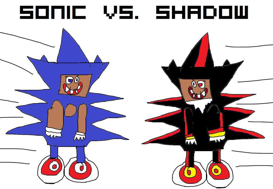 Sanic da Hegehog. Sanic_vs_black_sanic_epik_battel_by_unimpeachable-d5fj5wf