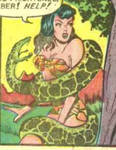 a snake wrapping a jungle girl 1
