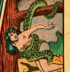 a snake wrapping jungle girl 2
