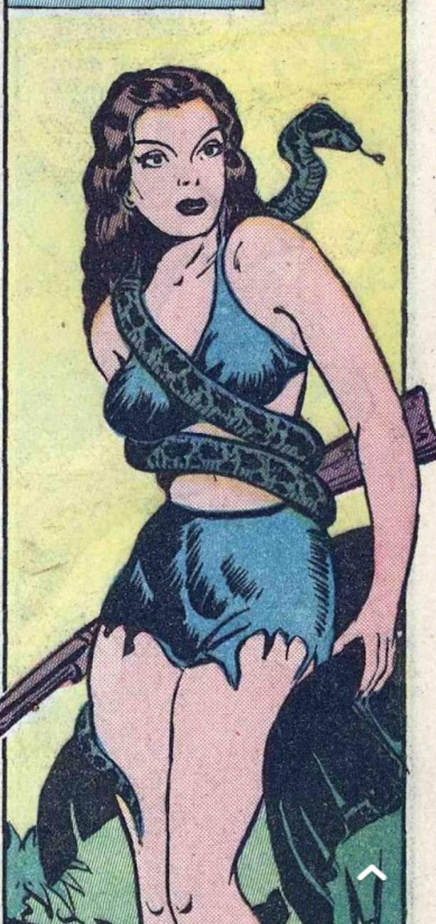 snake and girl jungle comic 47