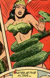 snake coiling girl jungle comic 73