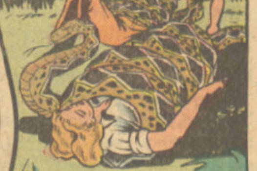 snake coiling girl jungle comic 85