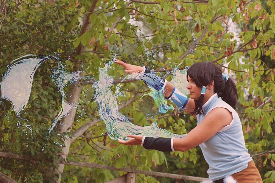 Avatar Legend of Korra water bending by LadyDmc